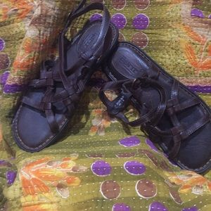 Born leather braid sandals 8